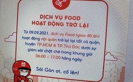 Grab, ShopeeFood mở lại dịch vụ giao đồ ăn tại TP.HCM