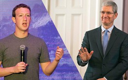 """Mark Zuckerberg nổi khùng vì bị Tim Cook """"đá xoáy"""""""