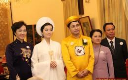 Ái nữ của bà chủ Tập đoàn Nam Cường làm lễ cưới tại chùa Quán Sứ