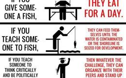 Đừng dạy người đang đói cách câu cá!