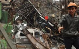 Sập giàn giáo thi công đường sắt Hà Đông - Cát Linh