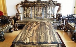 Bộ bàn ghế gỗ sưa trăm tỷ đắt nhất Việt Nam