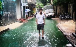 """Tìm ra """"thủ phạm"""" khiến nước xanh bất thường ở Hà Nội"""