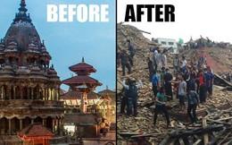 Hình ảnh Nepal trước và sau trận động đất kinh hoàng