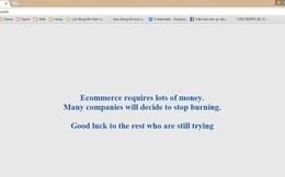 """Website Thương mại điện tử đóng cửa, để lại lời nhắn """"đau thương"""" cho người ở lại"""