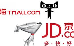 """Chiến trận online ở Trung Quốc: """"Mèo"""" Alibaba vs """"chó"""" JD"""