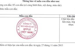 """""""Nhập gia tùy tục"""", Apple Việt Nam công bố mẫu con dấu"""