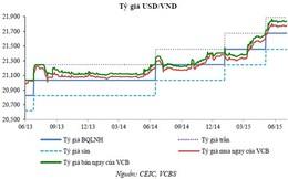 """Tỷ giá USD/VND được dự báo """"tăng ít nhất 3%"""" năm 2015"""