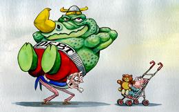 Kinh tế qua hoạt hình: Nợ và  Thâm hụt - Con khủng long có thể 'ăn' cả con cháu bạn