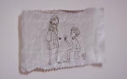 Làm sao để lời tỏ tình lãng mạn nhất? Hãy dùng ... giấy gói kẹo cao su