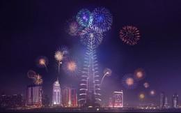 """""""Kinh ngạc"""" với màn pháo hoa đón năm mới ở Dubai"""