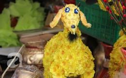 Người Sài Gòn thích thú chọn mua dê hoa handmade trưng nhà dịp Tết
