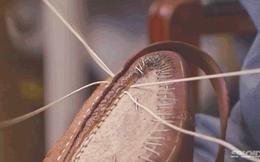 [Video] Nghệ nhân Nhật Bản tỉ mỉ từng chi tiết cho một đôi giày tây thành phẩm