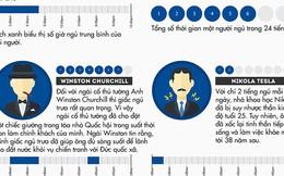 [Infographic] Thói quen ngủ của những người giàu có và nổi tiếng