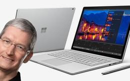 """Tim Cook nói Microsoft đang """"ảo tưởng"""" về Surface Book"""