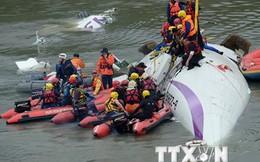 Đã tìm thấy hai hộp đen của chiếc máy bay rơi tại Đài Loan