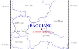 Xảy ra động đất 2,9 độ Richter tại khu vực miền núi tỉnh Bắc Giang