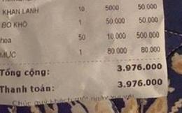 Ra quán uống cà phê chơi, khách toát mồ hôi cầm hóa đơn 4 triệu