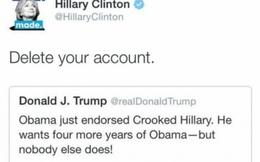 """Bà Clinton và ông Trump """"phím chiến"""" dữ dội trên Twitter"""