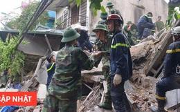 Hà Nội: Sập nhà 4 tầng giữa phố Cửa Bắc, đang giải cứu những người mắc kẹt
