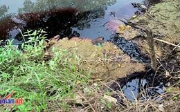 Cảnh sát môi trường điều tra xả thải đỏ như máu ở Hà Nội