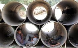 Ấn Độ: Chui ống cống trốn nắng nóng kỷ lục 51 độ C