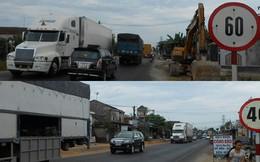 Quốc lộ đã hết sạch biển hạn chế tốc độ 50km/giờ
