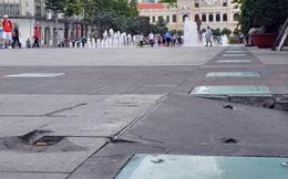 Đá granite độ bền trăm năm ở phố đi bộ Nguyễn Huệ hư hỏng, nứt toác sau chưa đầy 1 năm