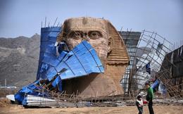 Dưới sức ép của người Ai Cập, Trung Quốc bị buộc tháo dỡ tượng nhân sư nhái khổng lồ