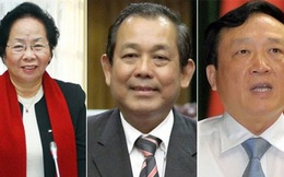 Trình Quốc hội miễn nhiệm nhiều lãnh đạo cấp cao