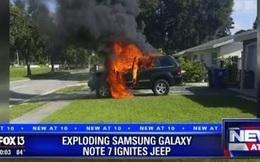 Galaxy Note7 nổ tung làm xe Jeep Grand Cherokee bốc cháy ngùn ngụt