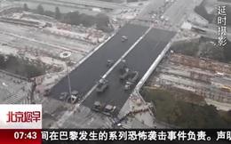 Xem người Trung Quốc sửa cầu chỉ mất 43 giờ đồng hồ, người Mỹ cũng nhanh không kém