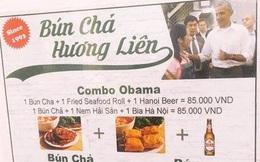 Dù ông Obama không lên tiếng, việc in hình ông lên menu như quán bún chả Hương Liên cũng là phạm luật