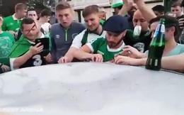 Ăn mừng quá đà làm hỏng một chiếc xe, nhưng cổ động viên Ireland đã làm cả thế giới bất ngờ