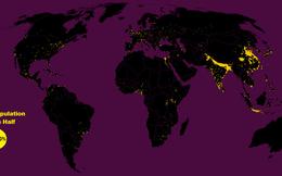 Một nửa dân số thế giới đang sống trên 1% diện tích Trái Đất