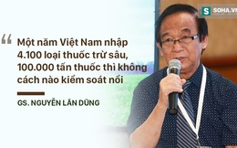 GS Nguyễn Lân Dũng: Việt Nam nhập khoảng 4.100 loại thuốc trừ sâu với khối lượng 100.000 tấn mỗi năm thì làm sao kiểm soát được thực phẩm