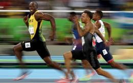 Thi Olympic quá nhẹ nhàng, Usain Bolt vừa chạy vừa tạo dáng