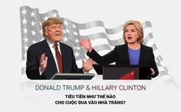 Donald Trump vs Hillary Clinton: Tiêu tiền thế nào vào cuộc đua Nhà Trắng