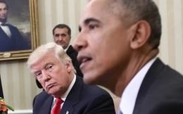 """Những bức ảnh cho cuộc gặp mặt """"kỳ quặc"""" giữa ông Obama và Trump"""