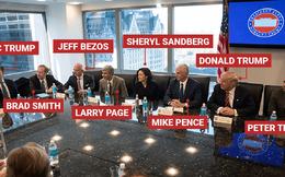 Ý đồ của Donald Trump khi xếp các CEO công nghệ ngồi như thế này là gì?