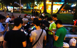 """Cơn """"địa chấn"""" Pokemon Go tại công viên, phố đi bộ Sài Gòn"""