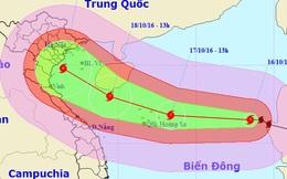 Bão giật cấp 16-17 tăng tốc hướng vào Việt Nam
