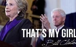 """Ở tuổi 70, Bill Clinton vẫn dành cho Hillary những lời này khi bà đọc diễn văn thua cuộc: """"That's my girl"""""""