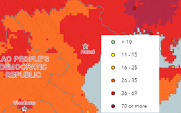 Bản đồ của WHO: Hiện tại Hà Nội đang ô nhiễm nhất Việt Nam