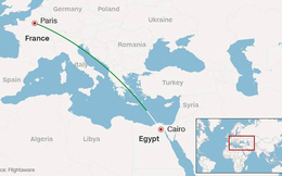 Máy bay Ai Cập 'đã rơi xuống biển'