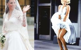 Ngắm nhìn những chiếc váy tinh tế và ấn tượng nhất mọi thời đại: Áo cưới bạc tỉ của công nương Kate Middleton đứng đầu danh sách