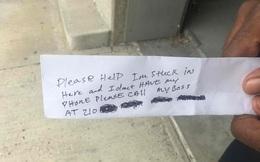 Lần đầu tiên trong lịch sử nhân loại, một người đàn ông bị mắc kẹt trong máy ATM, viết thư cầu cứu đi theo tiền ra bên ngoài