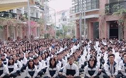 HS Lương Thế Vinh (Hà Nội) đồng thanh bài ca của trường tặng thầy Văn Như Cương, mong thầy chóng khoẻ
