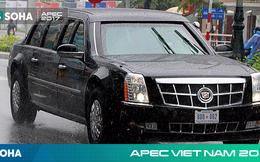 Dàn xe của tổng thống Trump hộ tống siêu xe Cadillac One The Beast xuất hiện trên phố Đà Nẵng
