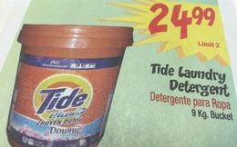 Bột giặt Tide Việt Nam rẻ hơn và dễ làm quần áo phai màu hơn Tide Mỹ?